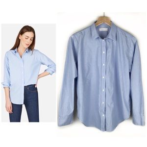 Everlane Relaxed Poplin Button Down Blouse 10/L